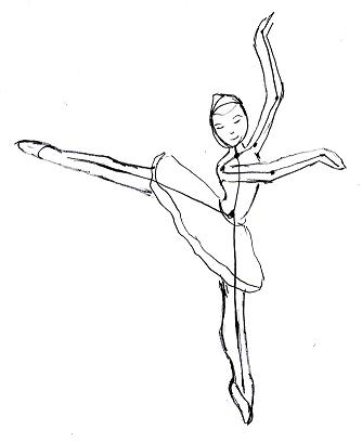 334x409 Drawn Ballet Stick Figure