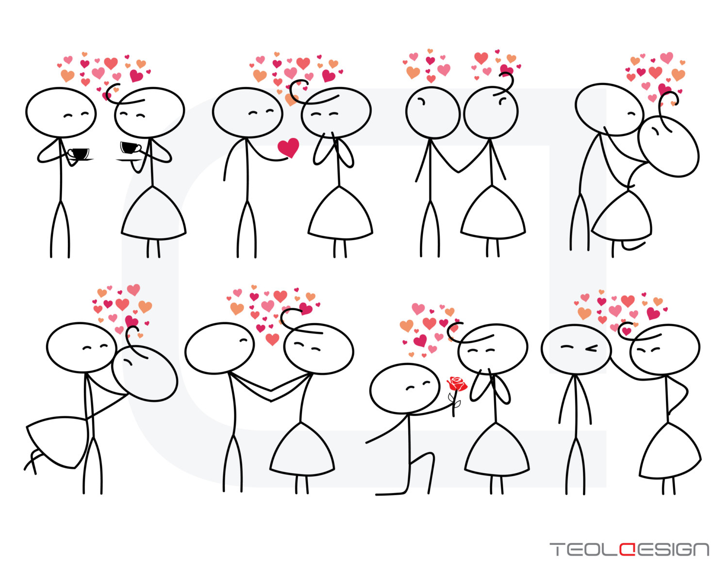1500x1187 Eps Png Stick Figure Valentine's Day Valentine People Love Wedding
