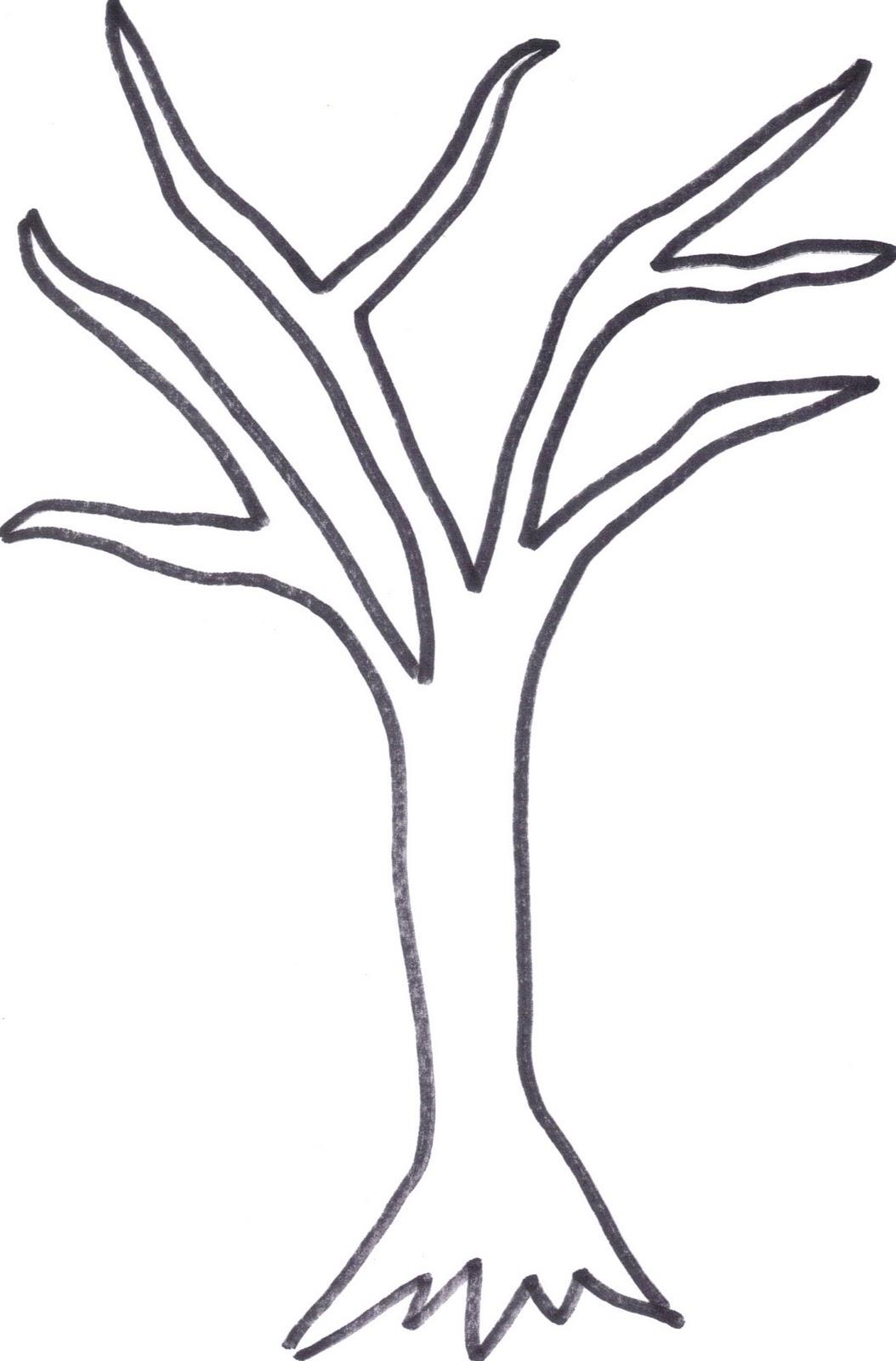 how to draw a stick tree
