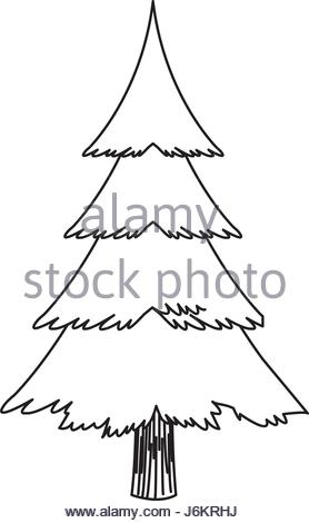 278x470 Christmas Tree Sketch Symbol Vector Xmas Winter Stock Vector Art