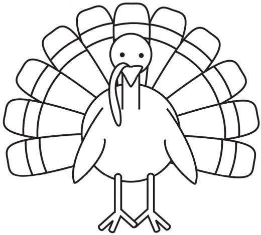 520x469 Turkey Drawing Coloring Pages And For Kids