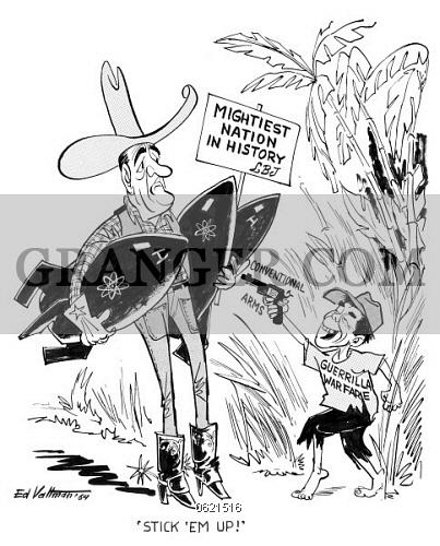 403x500 Image Of Cartoon Vietnam War, 1964.