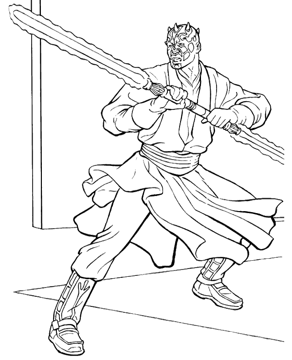 600x740 Printable Darth Maul Coloring Pages With Lego Star Wars Ideas