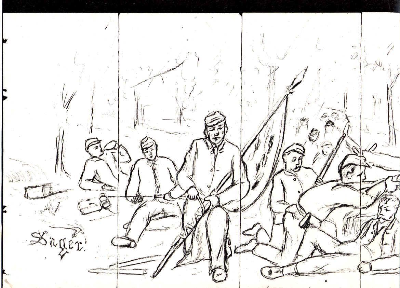 1170x843 Civil War Drawings Of George Josiah Sager