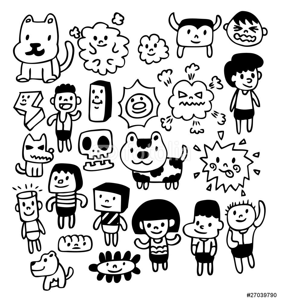 931x1000 Hand Draw Cute Cartoon Wall Sticker Wall Stickers