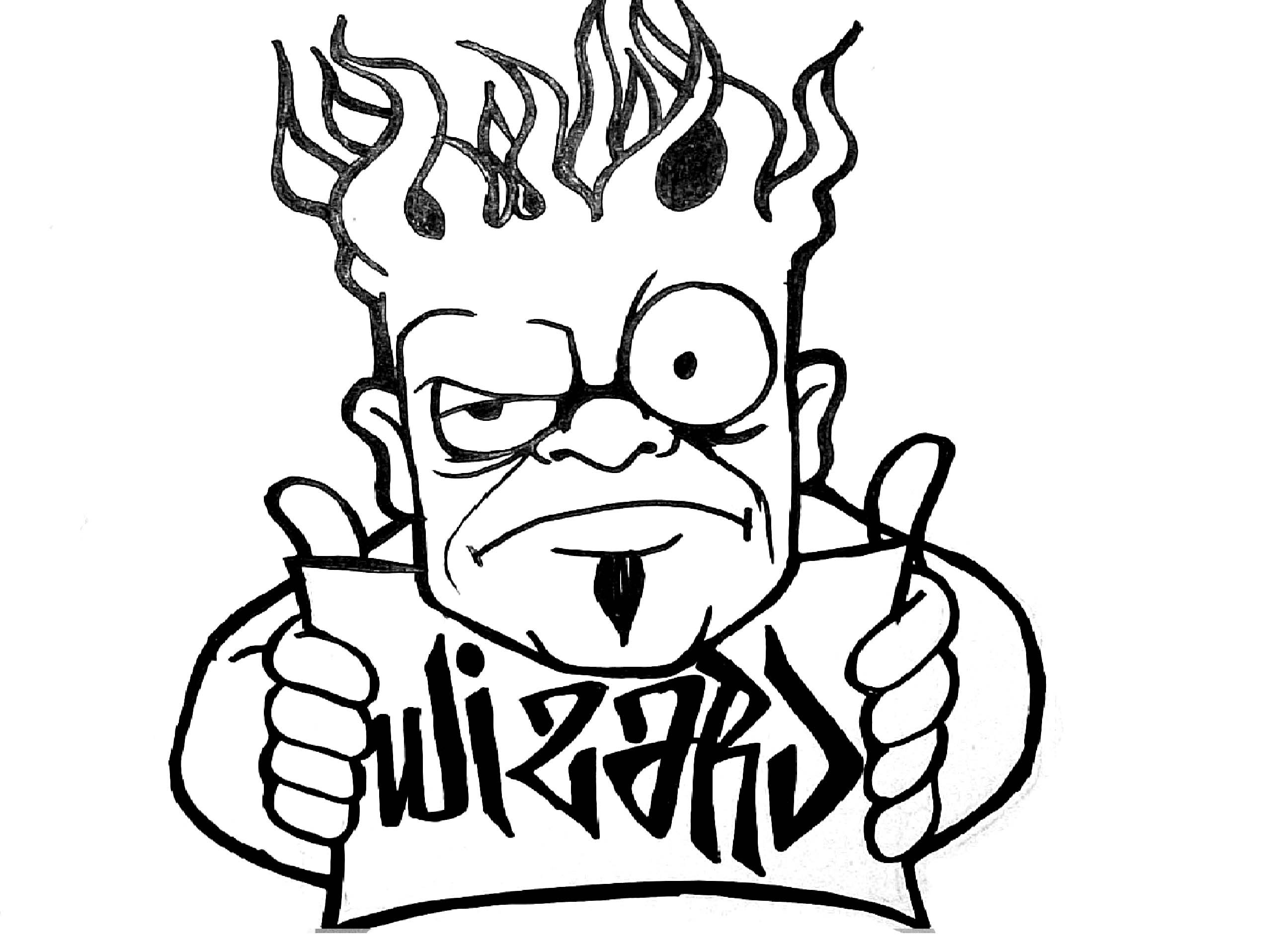 2592x1912 Lets Draw A Burningi Character Cool For Sticker