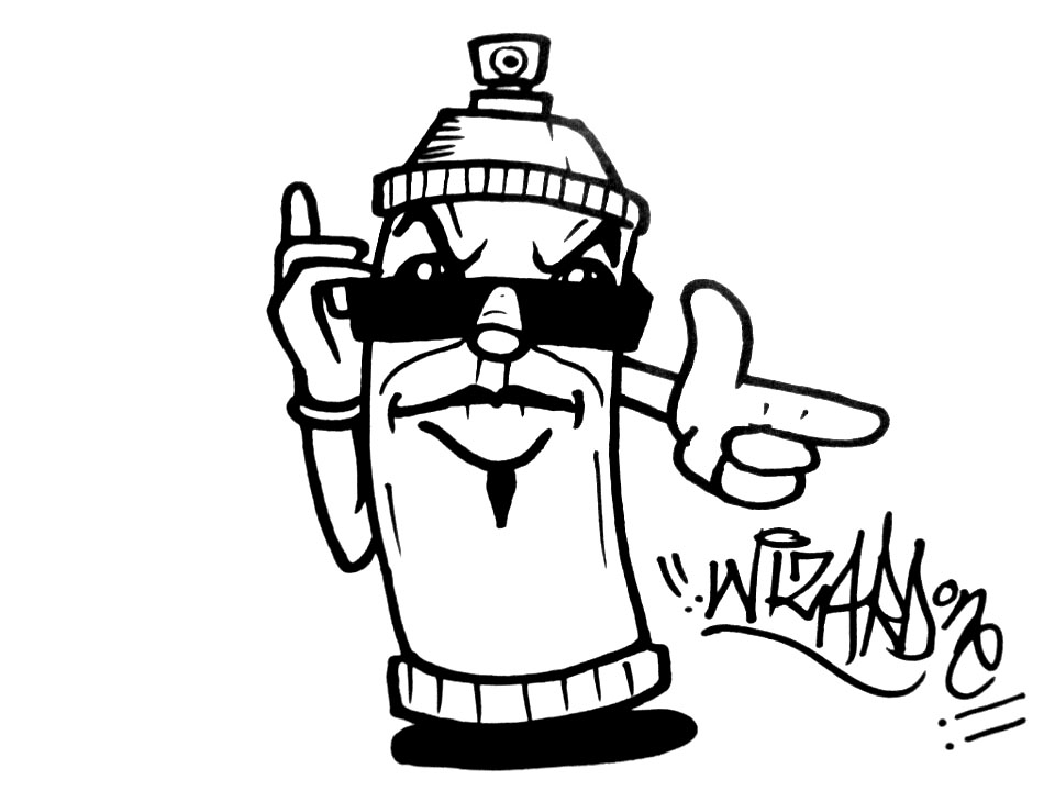 960x720 Graffiti Spray Can Sticker By Wizard1labels