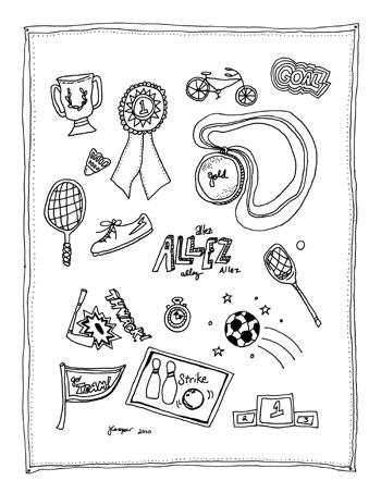 350x453 Printable Sport Stickers
