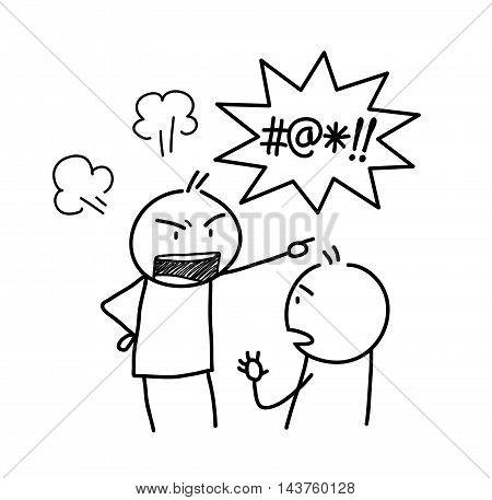 450x457 Anger Management Doodle. Hand Vector Amp Photo Bigstock