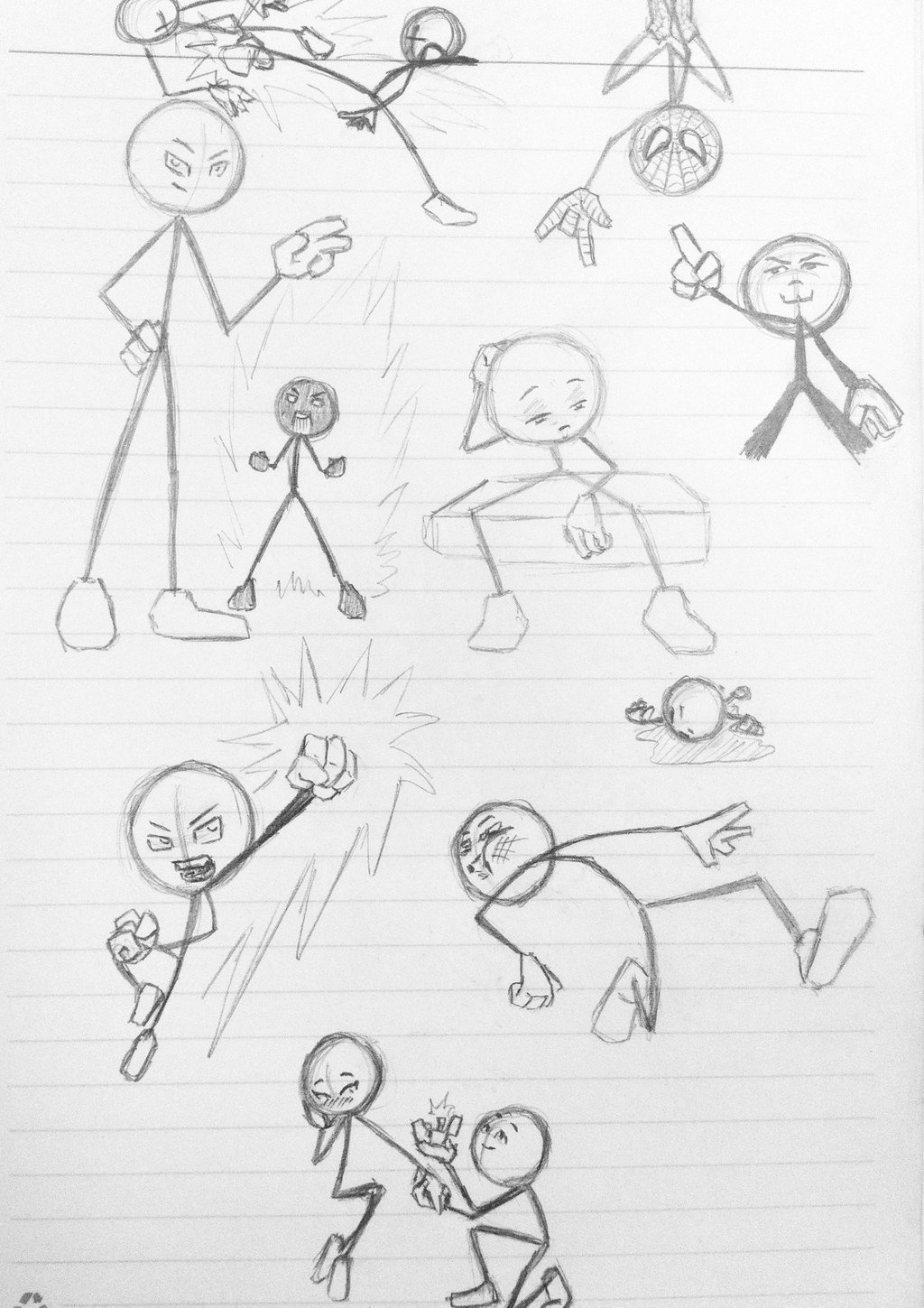 1024x1449 Exploring Dynamic Poses With Stickman By Wulongti