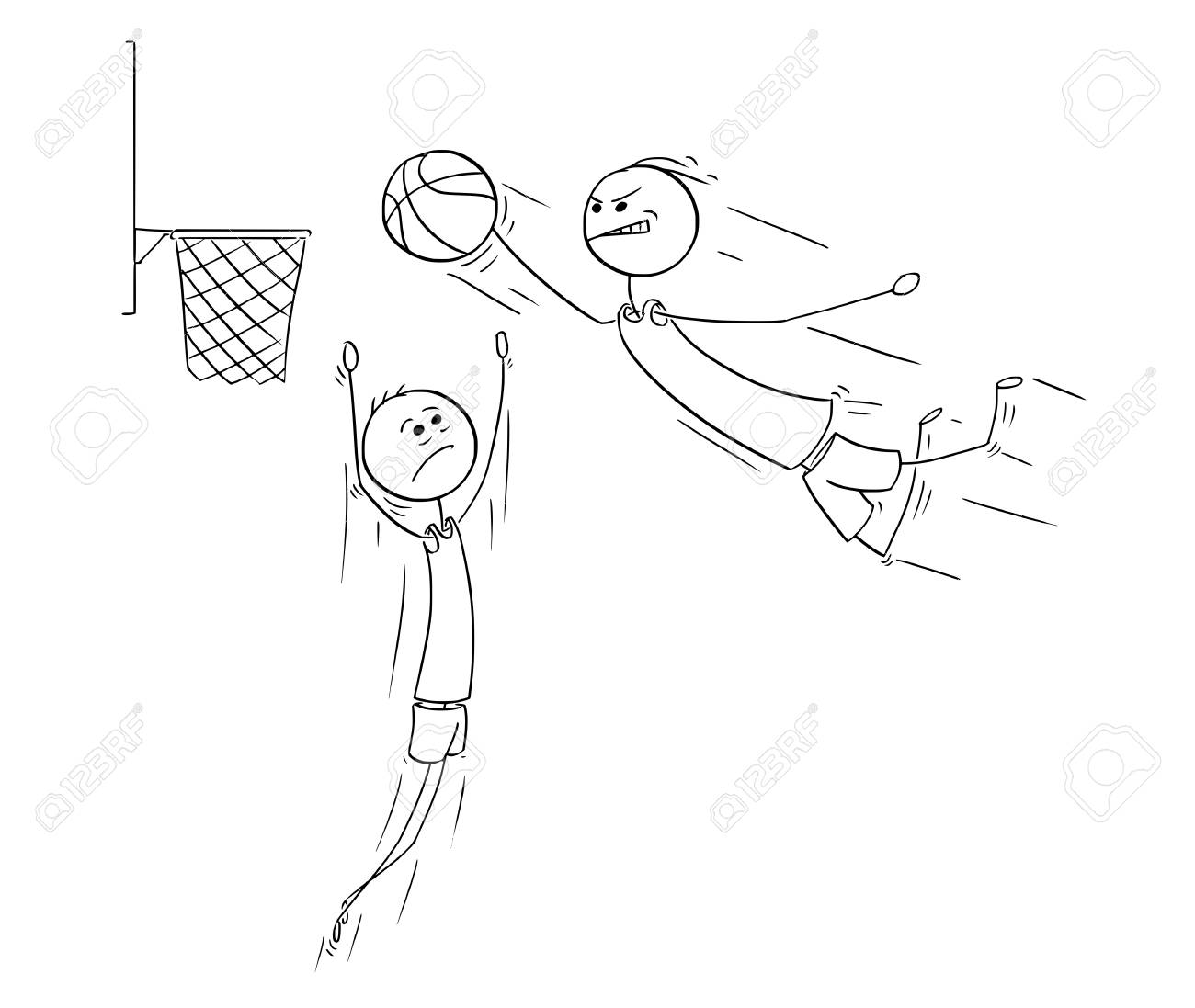 1300x1097 Cartoon Stick Man Drawing Illustration Of Basketball Player