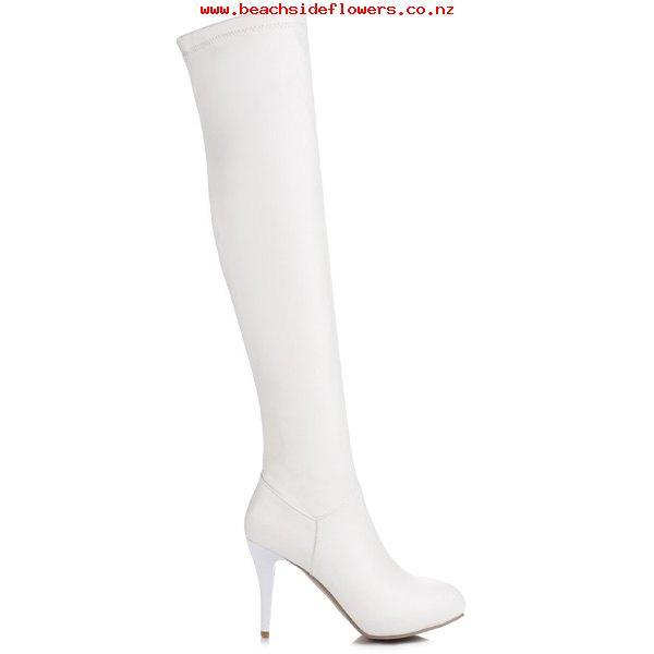 600x600 Women's Pu Stiletto Heel Pu Leather Thigh Boots