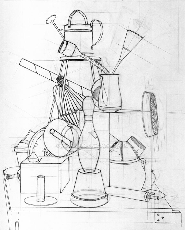 900x1119 Still Life Drawing By Hvnguyen