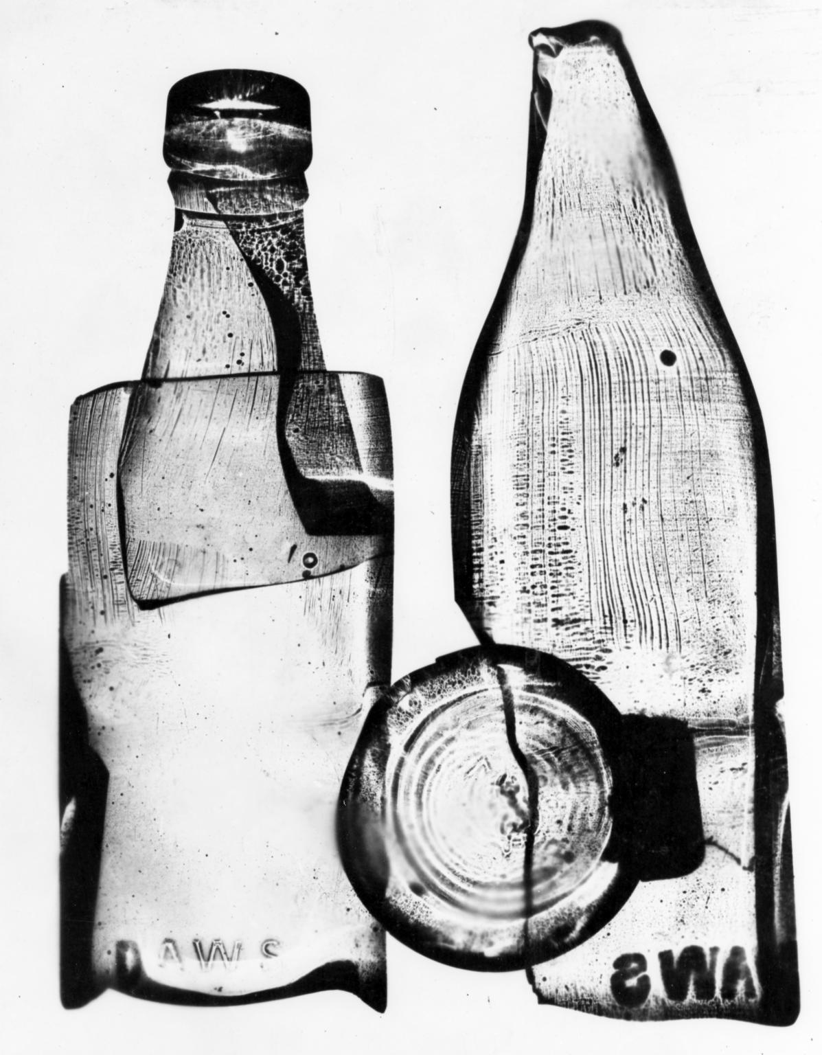 1197x1536 Photograph Of A Photogram Of A Milk Bottle', Nigel Henderson, 1949