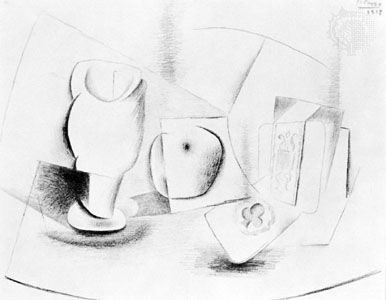 386x300 Picasso Still Life Drawing