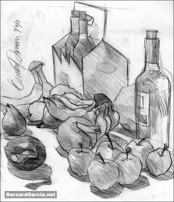 600x696 Drawing And Sketching By Artist Bernard Garcia Kitchen Table