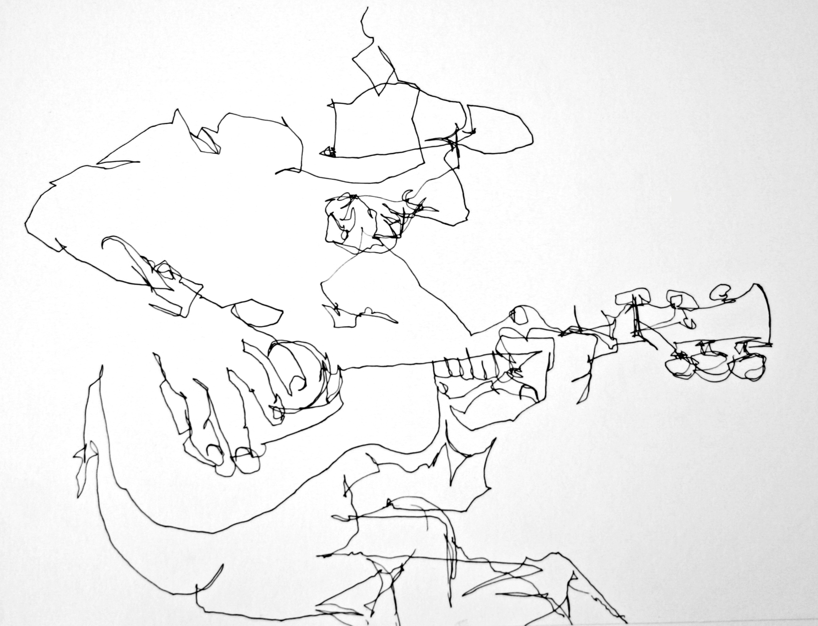 1633x1251 Blind Contour Line Drawing 65 Best Images About Blind