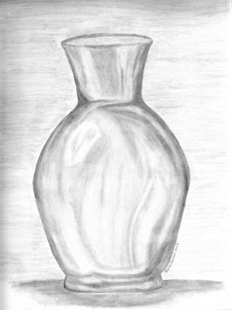 769x1024 Vases Drawn Glasses Glass Vase Pencil And In Color Drawn Glasses