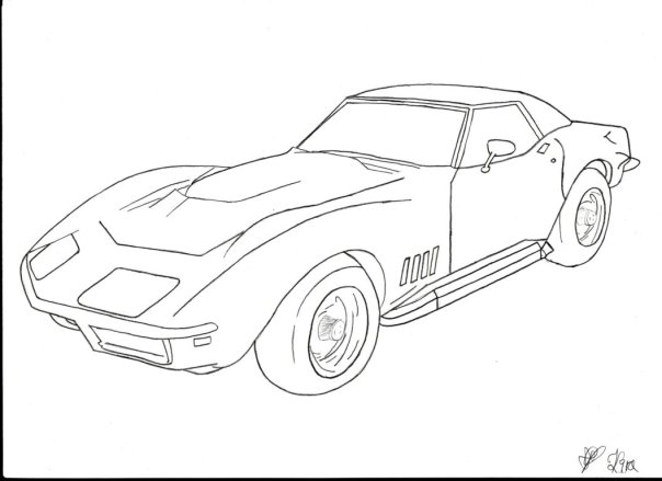 the best free corvette drawing images  download from 227 free drawings of corvette at getdrawings