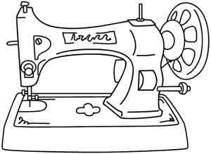 300x219 Vintage Sewing Machine Color Pages Sewing Machines