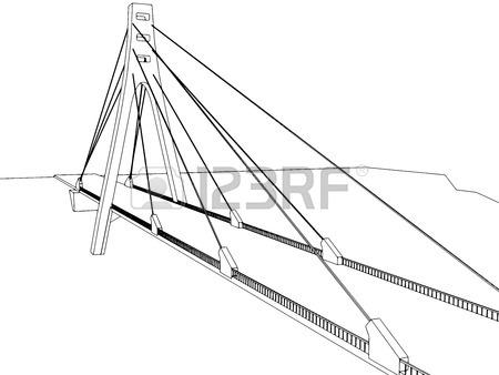 450x338 Vector Illustration Of Isolated Cartoon Bridge On White Background