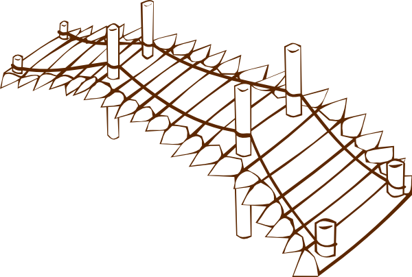 600x404 Wooden Bridge Clip Art