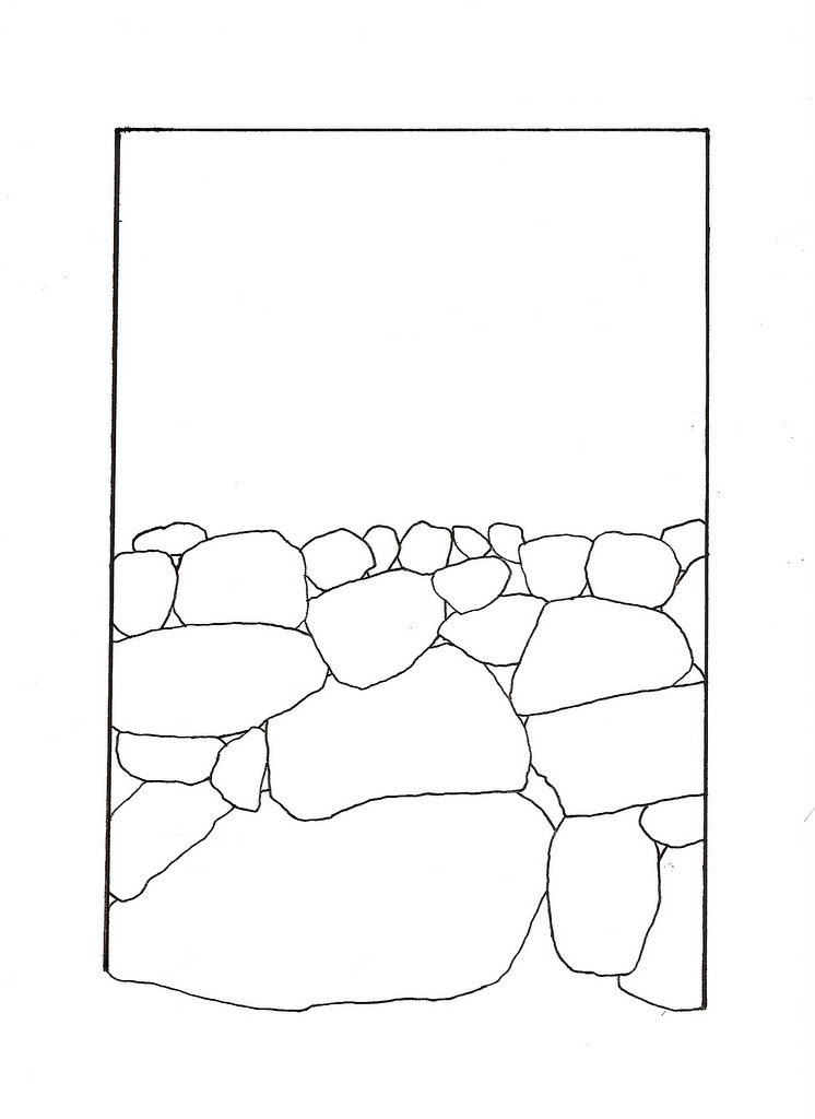 746x1024 Paperpennies No. 3 Traditional Dry Stone Wall