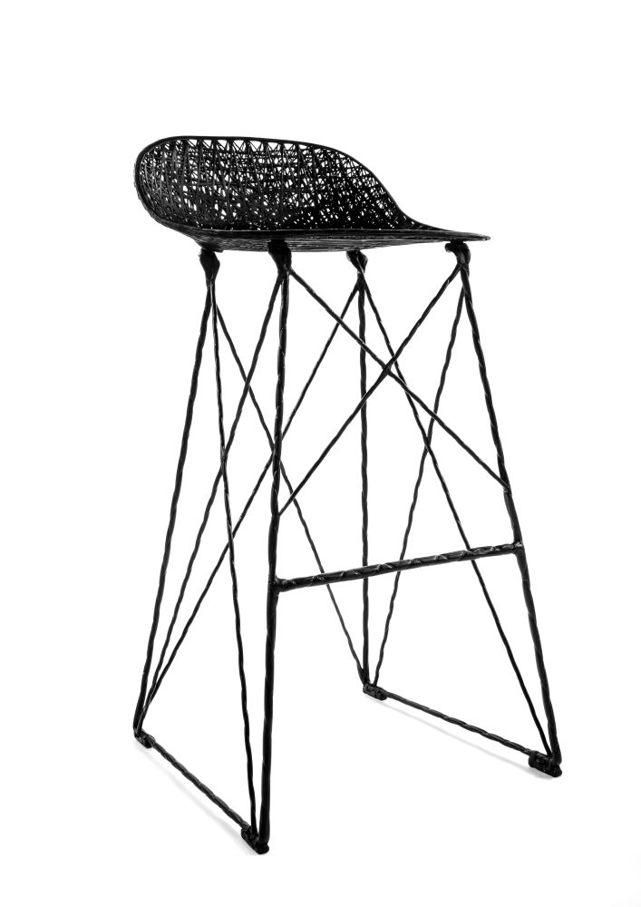 707x1000 Carbon Bar Stool 92cm Height By Bertjan Pot Amp Marcel Wanders For Moooi