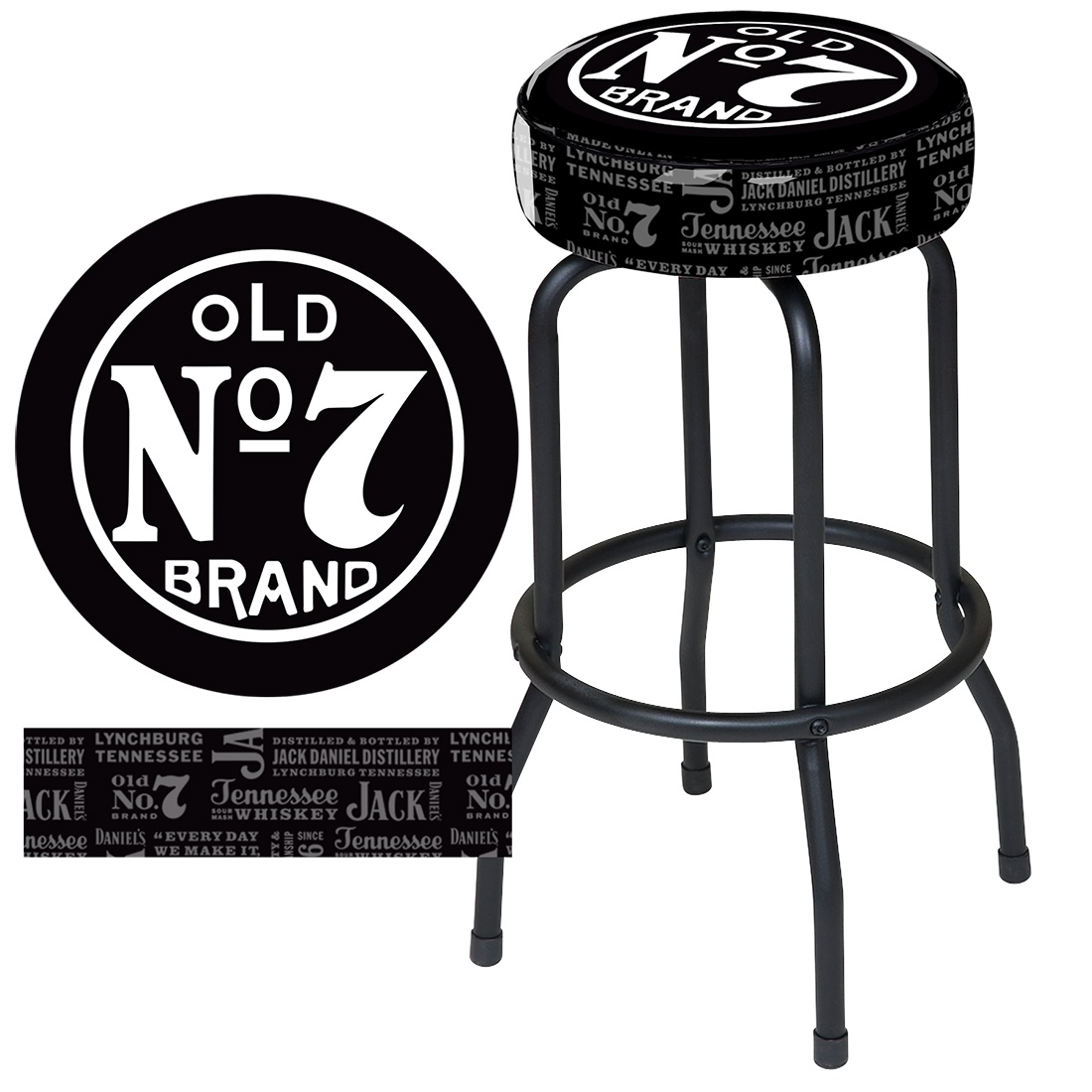 1100x1100 Jd 32101 Jack Daniel's Old No. 7 Bar Stool Bar Amp Rec Northwoods