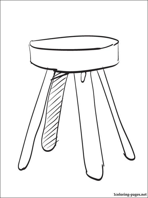 560x750 Stool Coloring Page Coloring Pages