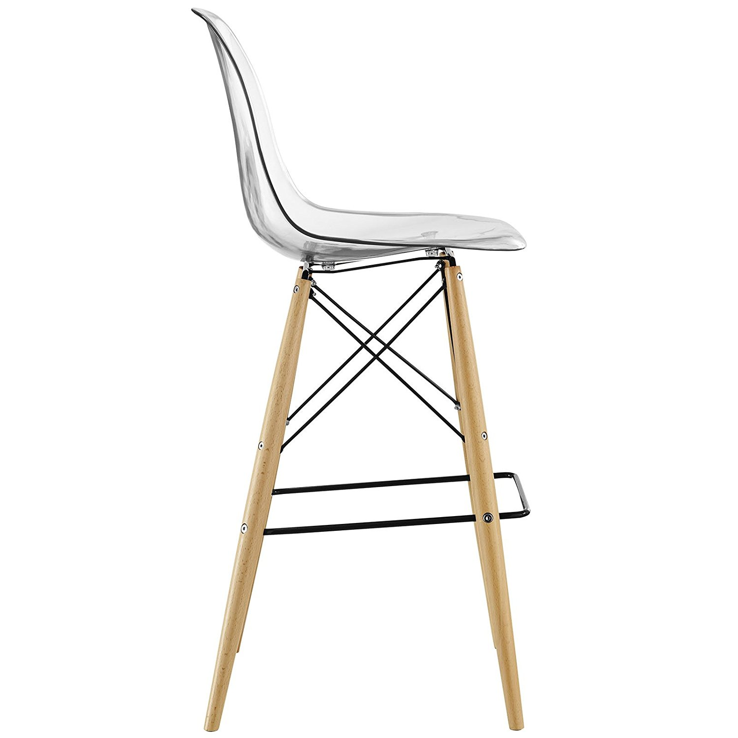 1500x1500 Modway Pyramid Bar Stool With Natural Wood Legs