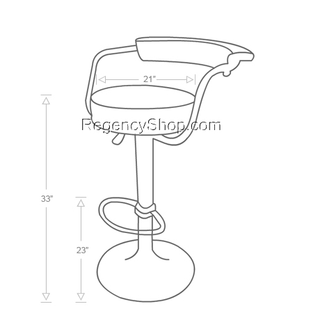 470x470 Bar Stool Drawing