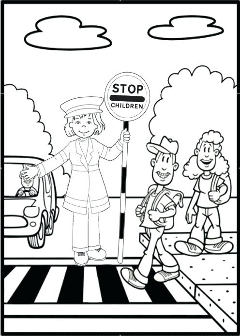 496x694 Stop Light Coloring Page Road Safety Colouring Page Printable Stop