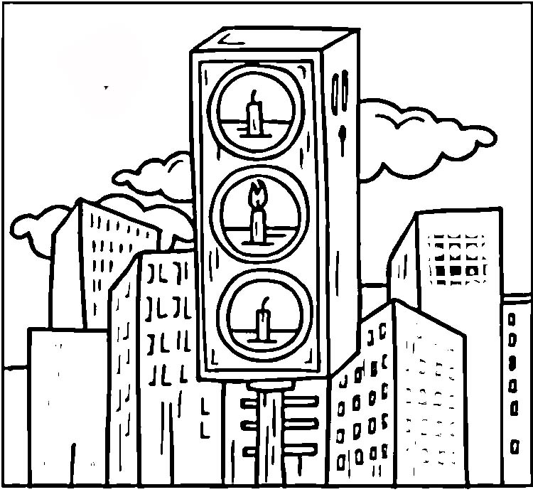 750x692 Traffic Sign Coloring Pages