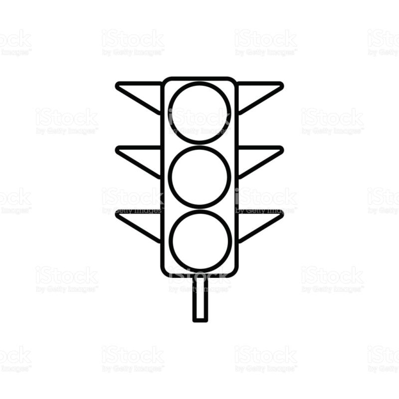 800x800 Traffic Light Clipart Black And White
