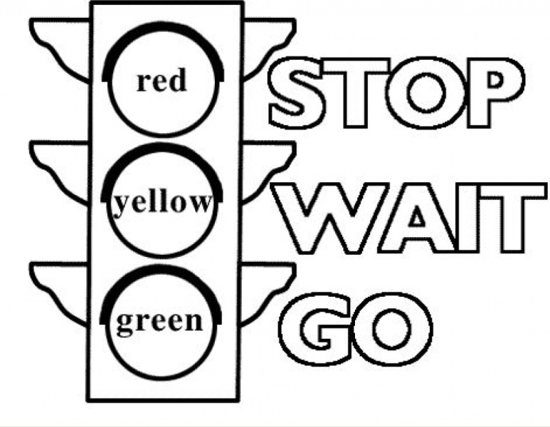 773x600 Printable Traffic Light Coloring Pages Free Free Coloring Book