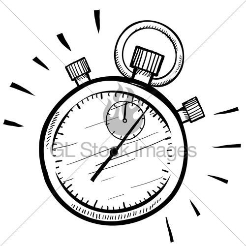 500x500 Manual Stopwatch Sketch Gl Stock Images