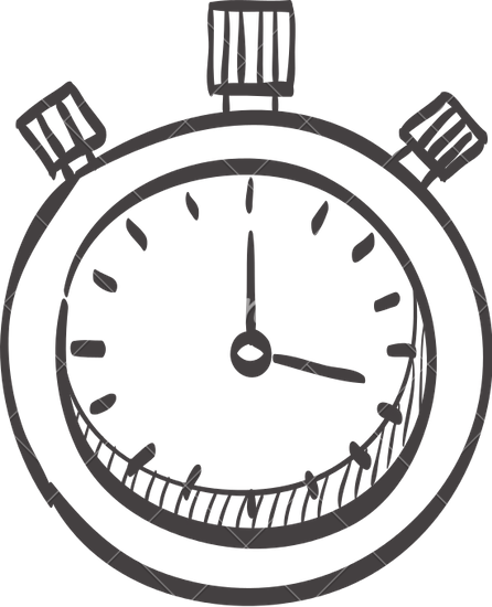 446x550 Sketch Icon Of A Stopwatch