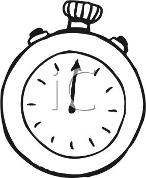 287x350 Stopwatch Coloring Pages