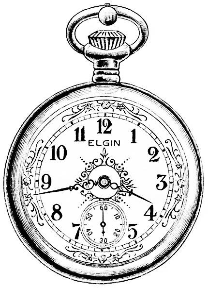 430x593 Vintage Watch Magazine Advertisement, Antique Elgin Pocketwatch