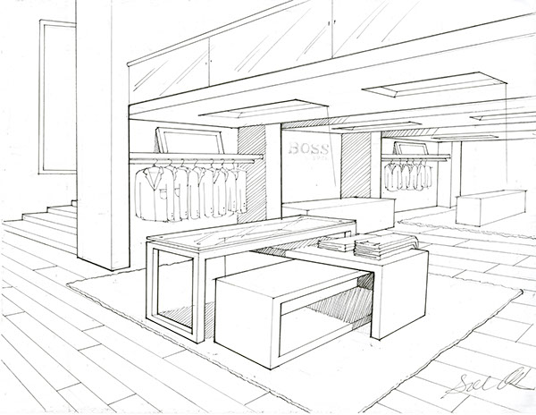 600x464 Hugo Boss' Store Render On Pratt Portfolios