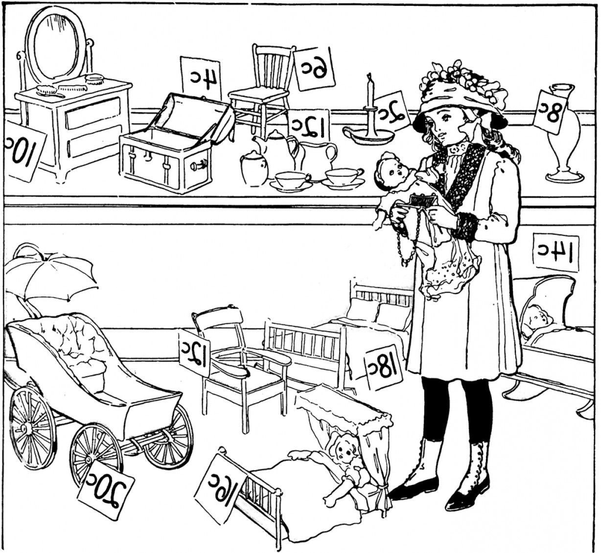 1228x1130 Toy Store Black And White Clipart Ardiafm
