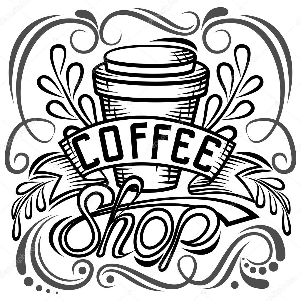 1024x1024 Offee Packaging Design. Lettering Hand Drawing, Fashion
