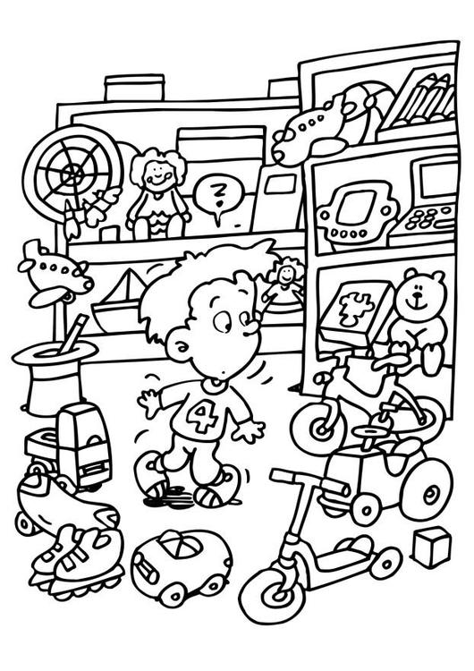 530x750 Coloring Page Toy Store