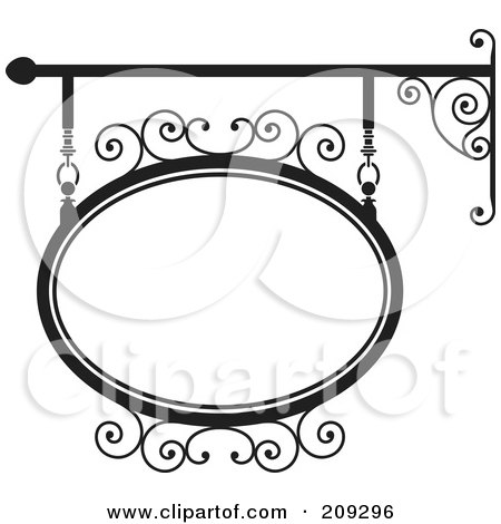 450x470 Royalty Free (Rf) Clipart Illustration Of An Oval Wrought Iron
