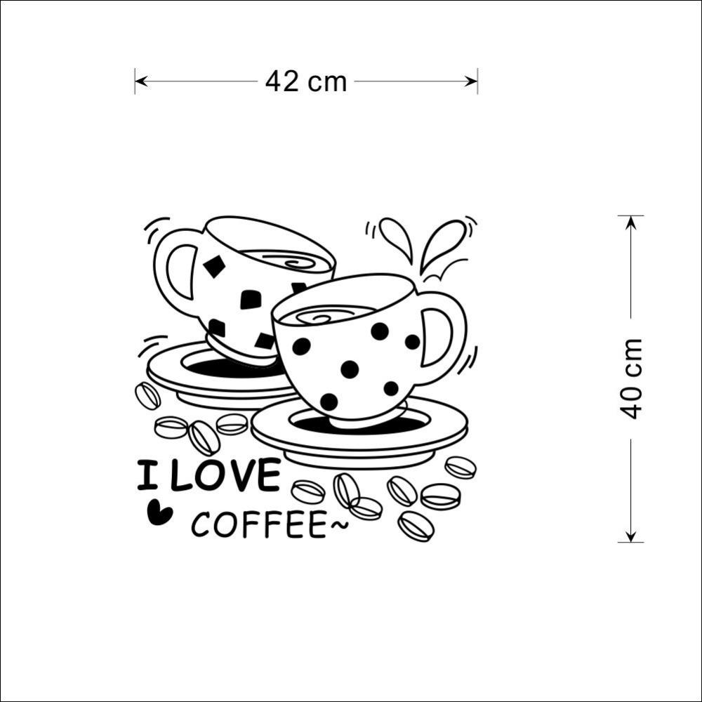 1000x1000 8241amp% Home Decor Black I Love Coffee Restaurant Storefront
