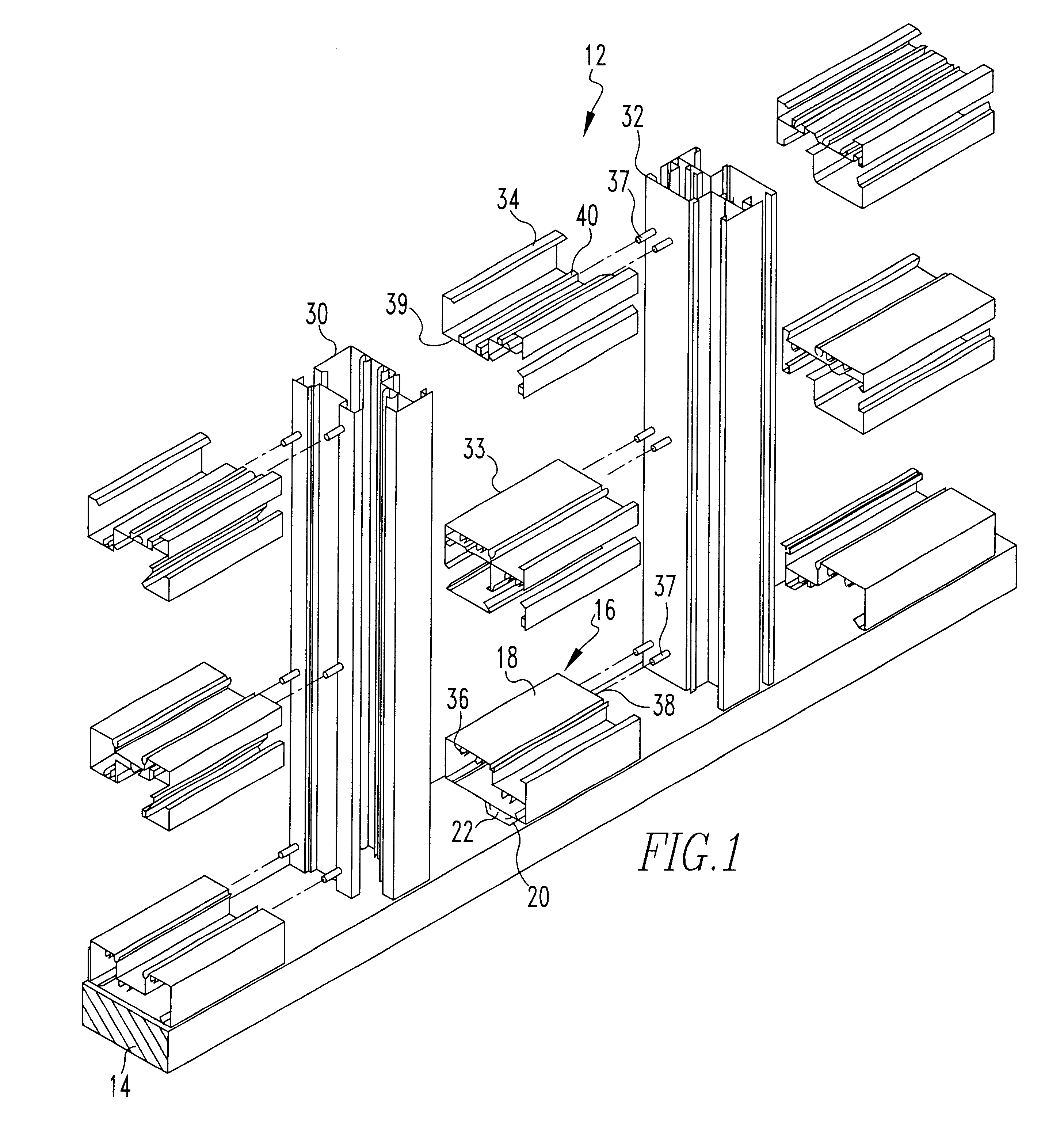 2913x3104 Ykk Storefront End Dam Detail Capable Patent Drawing Us High