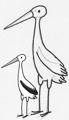 289x500 Stork Sketch From A Recent Project For A Friend That
