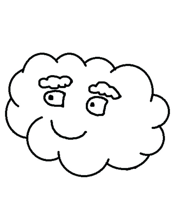 600x776 Clouds Coloring Page White Colouring Storm On Cloud Coloring Pag