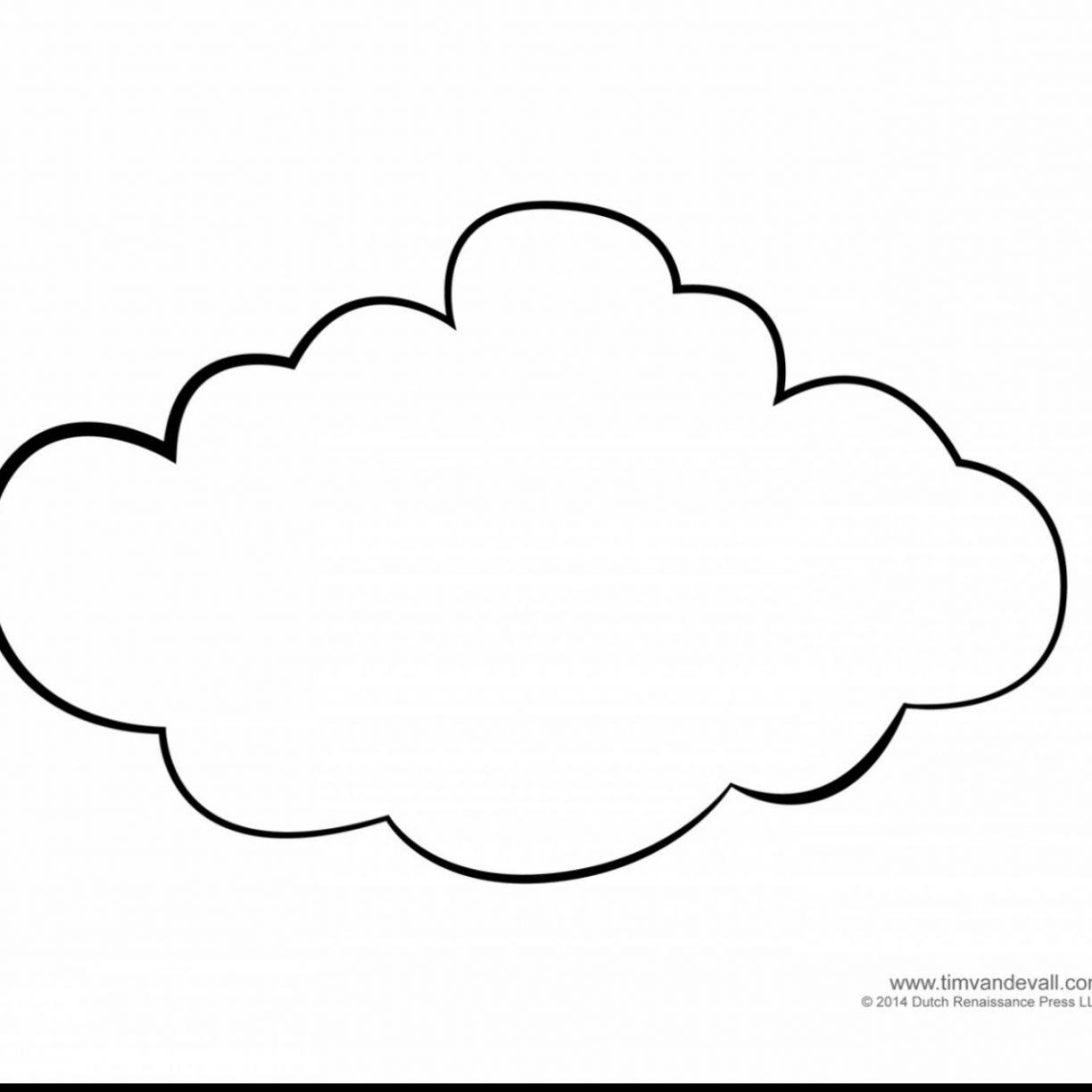 1224x1224 Printable Cloud Coloring Pages With Rain Free Kids Shapes Little